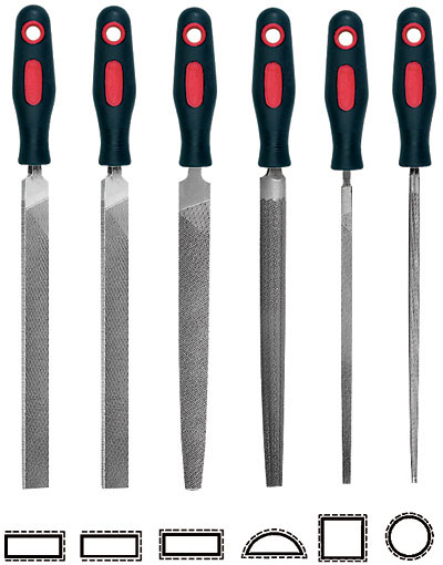 8 Inch Swiss Files 6 Piece Vallorbe Engineers File Set