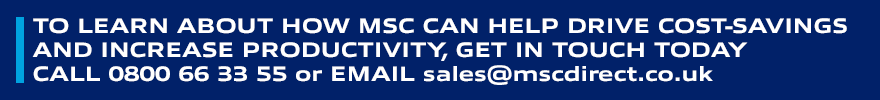To learn about how MSC can help you drive cost-savings and increase productivity, get in touch today - Click Here